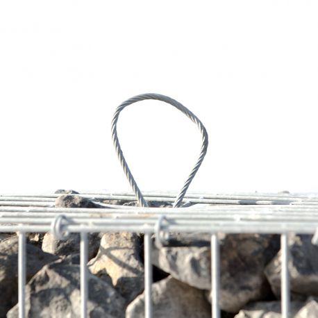 Gabion rempli vibré longueur 200 cm largueur 70 cm hauteur 70 cm fil 4.5 mm elingues de levage