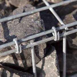 Gabion rempli vibré longueur 100 cm largueur 50 cm hauteur 50 cm fil 4.5 mm elingues de levage