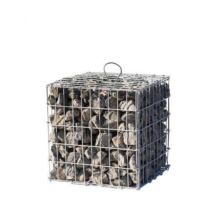 Gabion rempli vibré longueur 100 cm x largueur 30 cm hauteur 100 cm fil 4.5 mm elingues de levage