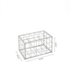 Gabion cage Longueur 50 cm x Epaisseur 30 cm x Hauteur 30 cm fil 4.5 mm