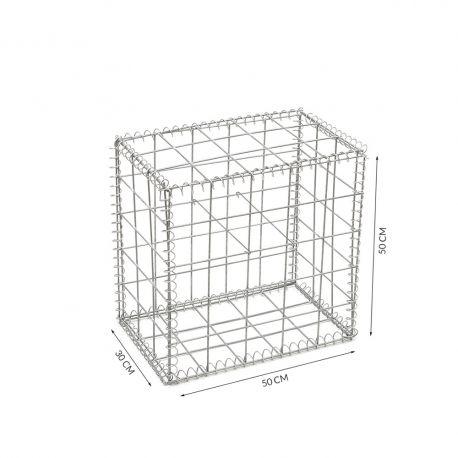 Gabion cage Longueur 50 cm x Epaisseur 30 cm x Hauteur 50 cm fil 4.5 mm