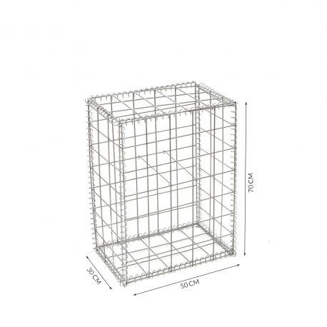 Gabion cage Longueur 50 cm x Epaisseur 30 cm x Hauteur 70 cm fil 4.5 mm