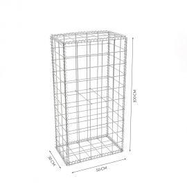 Gabion cage Longueur 50 cm x Epaisseur 30 cm x Hauteur 100 cm fil 4.5 mm