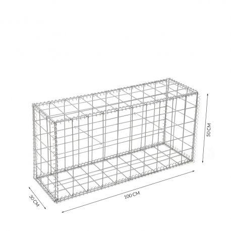 Gabion cage Longueur 100 cm x Epaisseur 30 cm x Hauteur 50 cm fil 4.5 mm