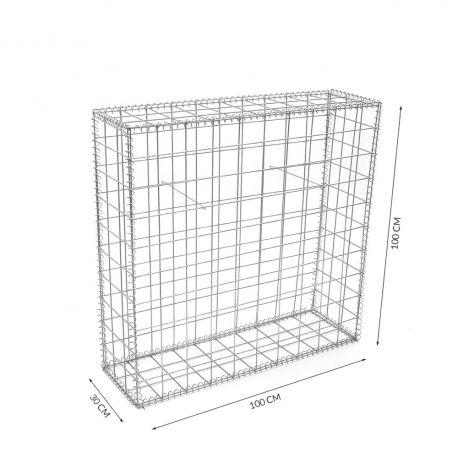 Gabion cage Longueur 100cm x Epaisseur 30 cm x Hauteur 100 cm fil 4.5 mm