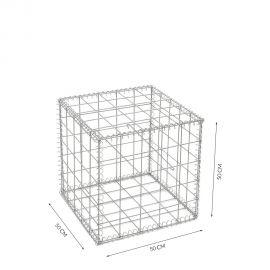 Gabion cage Longueur 50 cm x Epaisseur 50 cm x Hauteur 50 cm fil 4.5 mm