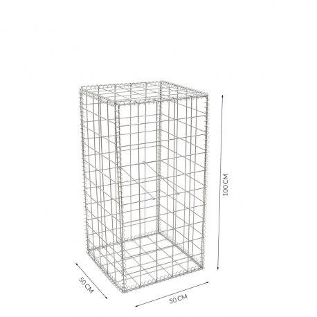Gabion cage Longueur 50 cm x Epaisseur 50 cm x Hauteur 100 cm fil 4.5 mm