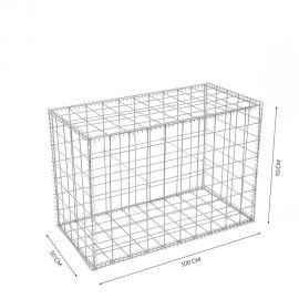 Gabion cage Longueur 100 cm x Epaisseur 50 cm x Hauteur 70 cm fil 4.5 mm