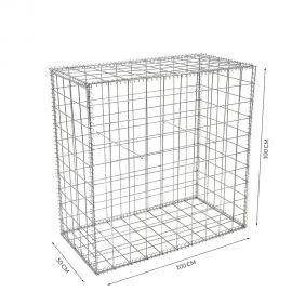 Gabion cage Longueur 100 cm x Epaisseur 50 cm x Hauteur 100 cm fil 4.5 mm