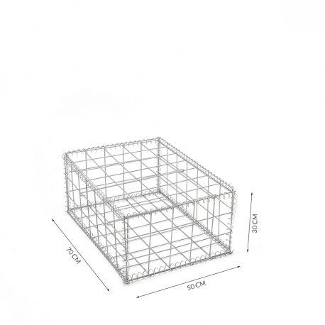 Gabion cage Longueur 50 cm x Epaisseur 70 cm x Hauteur 30 cm fil 4.5 mm