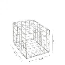 Gabion cage Longueur 50 cm x Epaisseur 70 cm x Hauteur 50 cm fil 4.5 mm