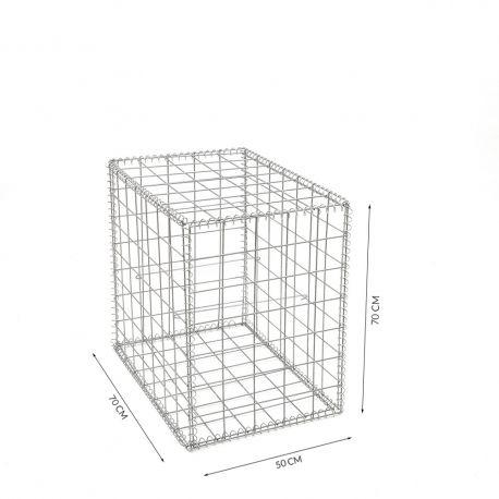 Gabion cage Longueur 50 cm x Epaisseur 70 cm x Hauteur 70 cm fil 4.5 mm