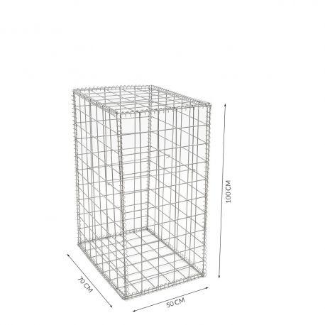 Gabion cage Longueur 50 cm x Epaisseur 70 cm x Hauteur 100 cm fil 4.5 mm