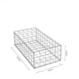 Gabion cage Longueur 50 cm x Epaisseur 100 cm x Hauteur 30cm fil 4.5 mm