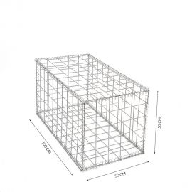 Gabion cage Longueur 50 cm x Epaisseur 100 cm x Hauteur 50cm fil 4.5 mm