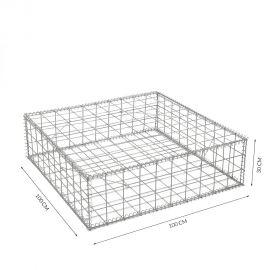 Gabion cage Longueur 100 cm x Epaisseur 100 cm x Hauteur 30cm fil 4.5 mm