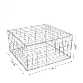 Gabion cage Longueur 100 cm x Epaisseur 100 cm x Hauteur 50 cm fil 4.5 mm