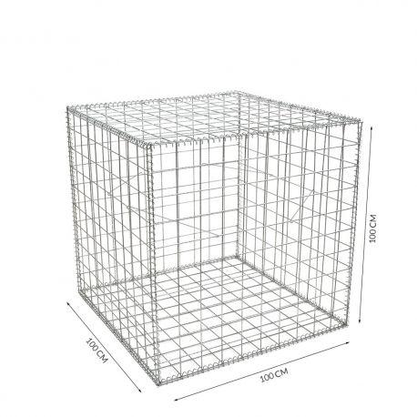 Gabion cage Longueur 100 cm x Epaisseur 100 cm x Hauteur 100 cm fil 4.5 mm
