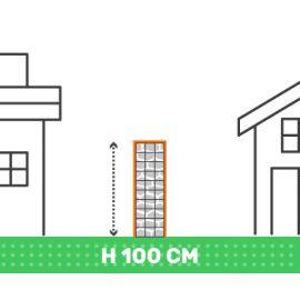 Cloture en gabion hauteur 100 cm X longueur 2 mètres fil 4.5 mm qualité professionnel