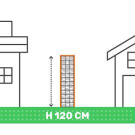 Cloture en gabion hauteur 120 cm X longueur 2 mètres fil 4.5 mm qualité professionnel