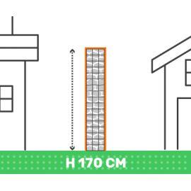 Cloture en gabion hauteur 170 cm X longueur 2 mètres fil 4.5 mm qualité professionnel