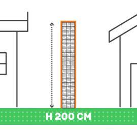 Cloture en gabion hauteur 200 cm X longueur 2 mètres fil 4.5 mm qualité professionnel