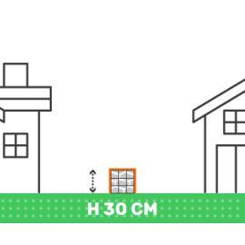 Cloture en gabion hauteur 30 cm X longueur 2 mètres fil 4.5 mm qualité professionnel