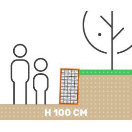 Mur de soutenement gabion plat sans surcharge hauteur 100 cm fil 4.5 mm qualité professionnel