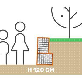 Mur de soutenement gabion plat sans surcharge hauteur 120 cm fil 4.5 mm qualité professionnel