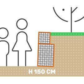 Mur de soutenement gabion plat sans surcharge hauteur 150 cm fil 4.5 mm qualité professionnel