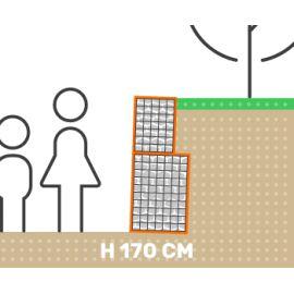 Mur de soutenement gabion plat sans surcharge hauteur 170 cm fil 4.5 mm qualité professionnel