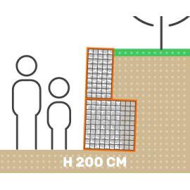 Mur de soutenement gabion plat sans surcharge hauteur 200 cm fil 4.5 mm qualité professionnel