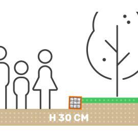 Mur de soutenement gabion plat sans surcharge hauteur 30 cm fil 4.5 mm qualité professionnel
