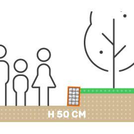 Mur de soutenement gabion plat sans surcharge hauteur 50 cm fil 4.5 mm qualité professionnel