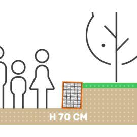 Mur de soutenement gabion plat sans surcharge hauteur 70 cm fil 4.5 mm qualité professionnel