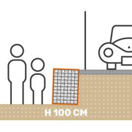 Mur de soutenement gabion plat avec surcharge hauteur 100 cm fil 4.5 mm qualité professionnel