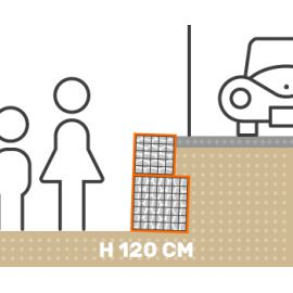 Mur de soutenement gabion plat avec surcharge hauteur 120 cm fil 4.5 mm qualité professionnel