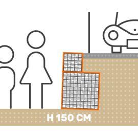 Mur de soutenement gabion plat avec surcharge hauteur 150 cm fil 4.5 mm qualité professionnel