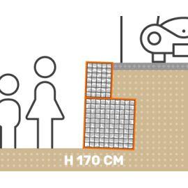 Mur de soutenement gabion plat avec surcharge hauteur 170 cm fil 4.5 mm qualité professionnel