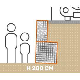 Mur de soutenement gabion plat avec surcharge hauteur 200 cm fil 4.5 mm qualité professionnel