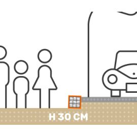 Mur de soutenement gabion plat avec surcharge hauteur 30 cm fil 4.5 mm qualité professionnel