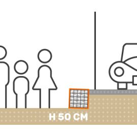 Mur de soutenement gabion plat avec surcharge hauteur 50 cm fil 4.5 mm qualité professionnel
