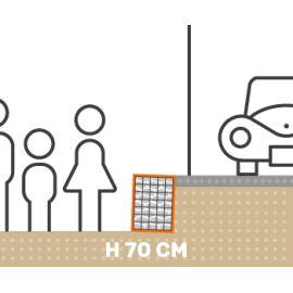 Mur de soutenement gabion plat avec surcharge hauteur 70 cm fil 4.5 mm qualité professionnel
