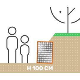 Mur de soutenement gabion talus sans surcharge hauteur 100 cm fil 4.5 mm qualité professionnel
