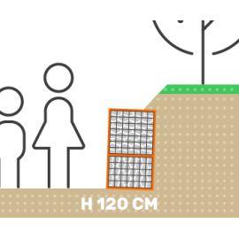 Mur de soutenement gabion talus sans surcharge hauteur 120 cm fil 4.5 mm qualité professionnel