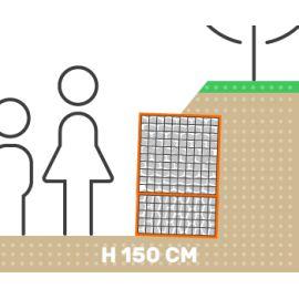 Mur de soutenement gabion talus sans surcharge hauteur 150 cm fil 4.5 mm qualité professionnel