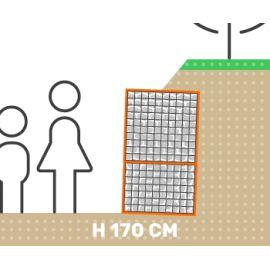 Mur de soutenement gabion talus sans surcharge hauteur 170 cm fil 4.5 mm qualité professionnel