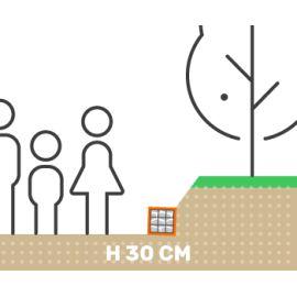 Mur de soutenement gabion talus sans surcharge hauteur 30 cm fil 4.5 mm qualité professionnel