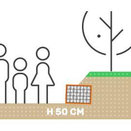 Mur de soutenement gabion talus sans surcharge hauteur 50 cm fil 4.5 mm qualité professionnel