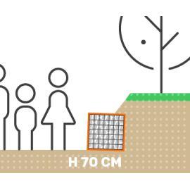 Mur de soutenement gabion talus sans surcharge hauteur 70 cm fil 4.5 mm qualité professionnel
